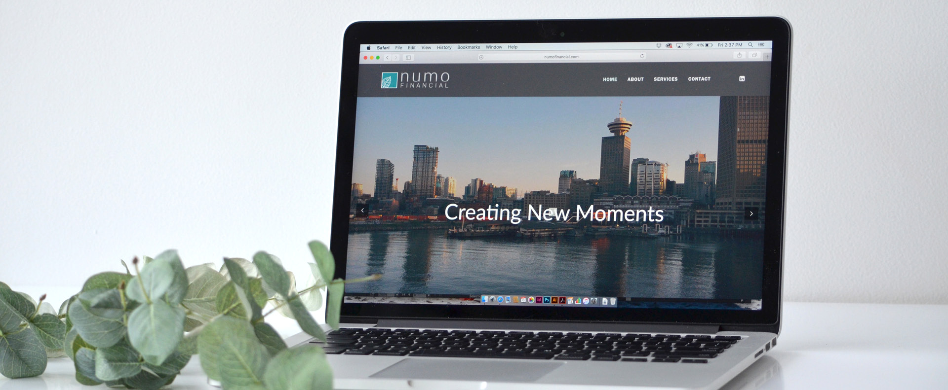 numo financial website shown on a laptop - White Canvas Design