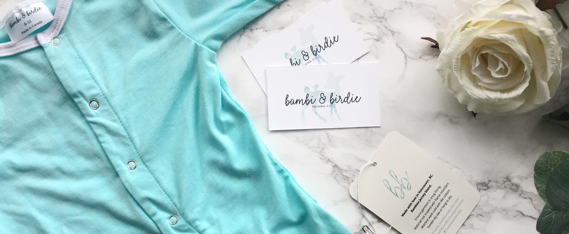 Bambi and Birdie cards and pajamas - White Canvas Design