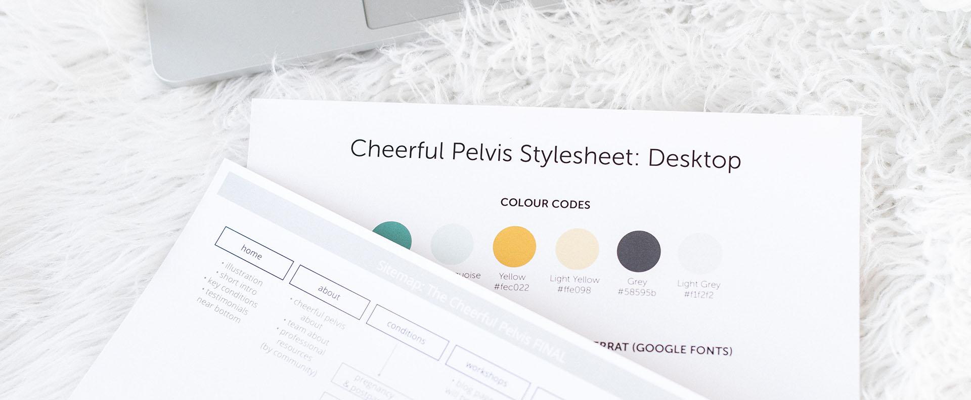 cheerful pelvis printed stylesheet - White Canvas Design