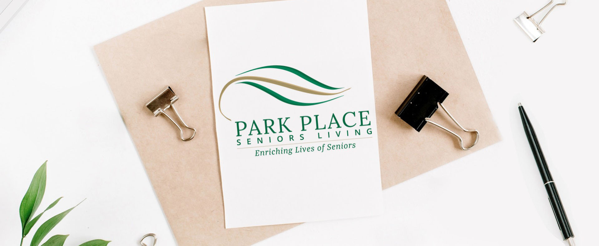 Park place logo printed on paper - White Canvas Design