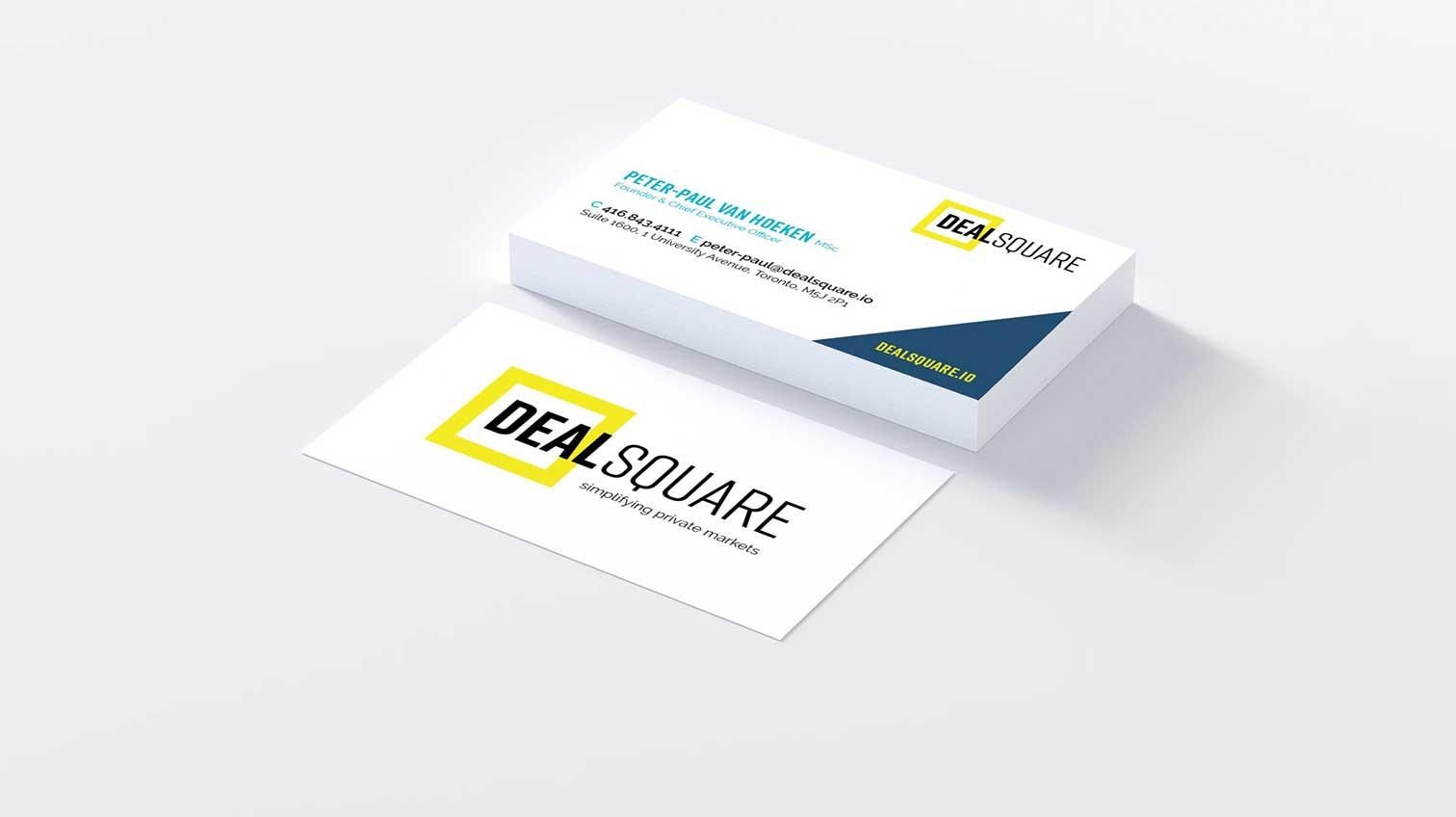 DealSquare business cards - White Canvas Design