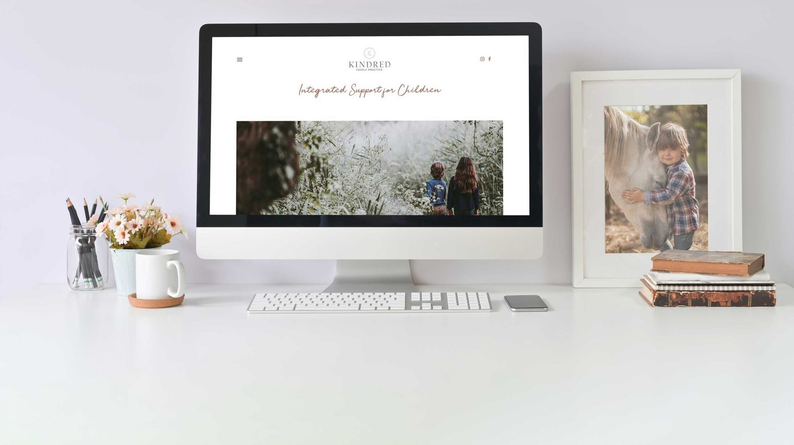 Kindred Family Practice website shown on an imac computer - White Canvas Design