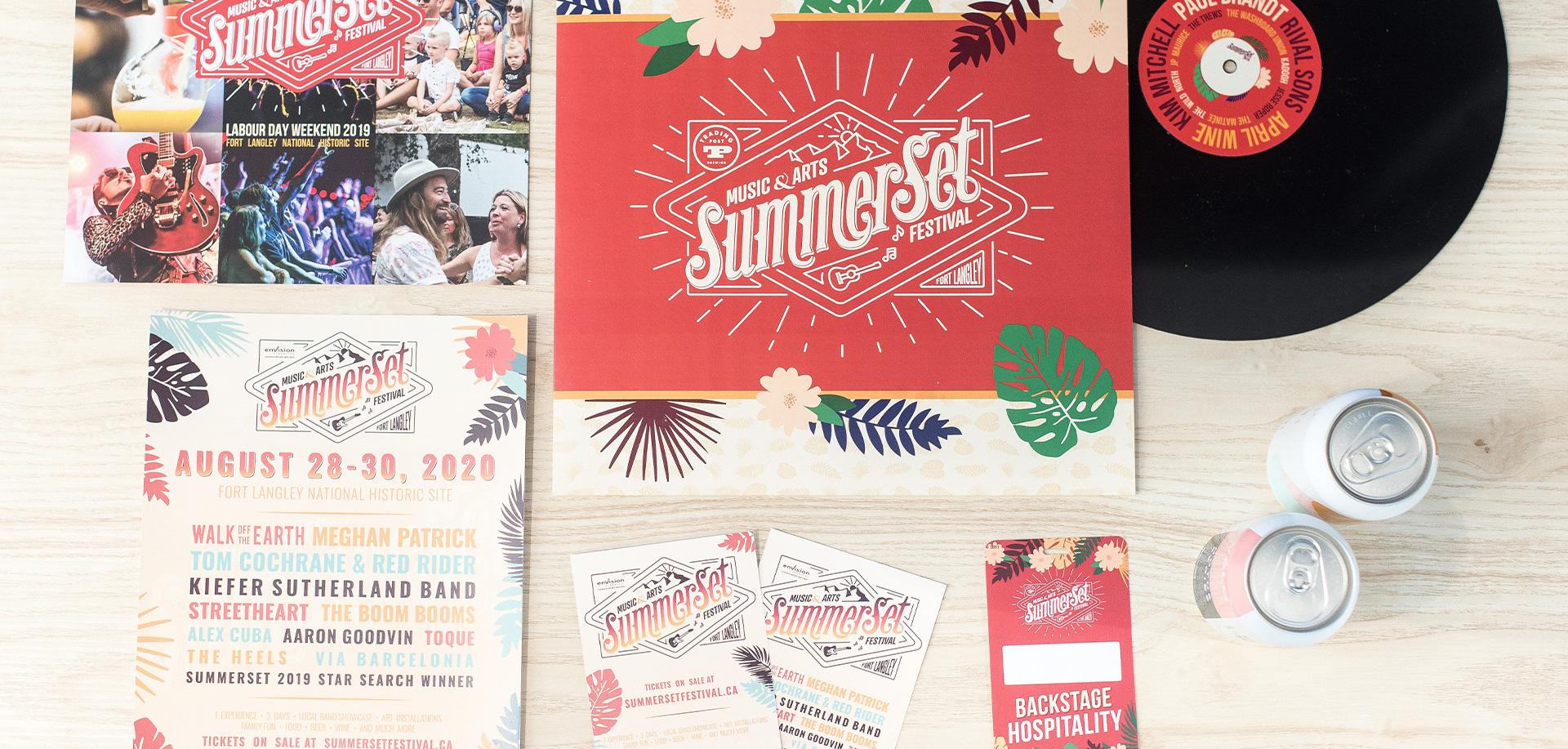 Summer set festival graphic design layouts - White Canvas Design
